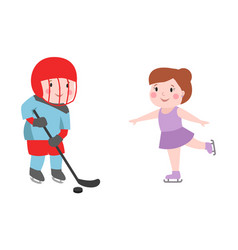 hockey player boy with stick attitude bandage on vector image vector image