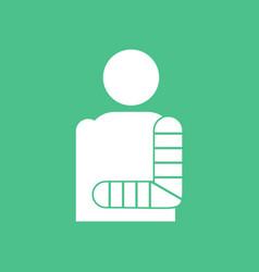 Icon man with broken arm vector