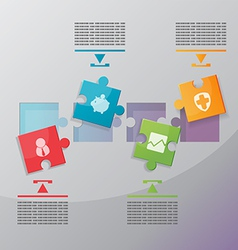 Jigsaw Modern info graphics process vector image vector image