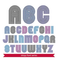 Light rounded geometric font created from lines vector image