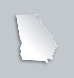 Map of Georgia vector image vector image