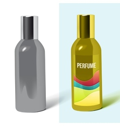 Perfume bottle package vector
