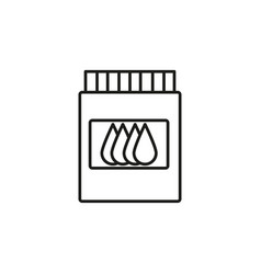 printer cartrige ink icon vector image