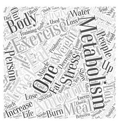 Quick tips to boost your metabolism word cloud vector