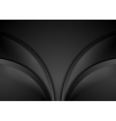 Smooth abstract black waves background vector