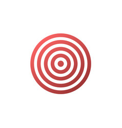 Target icon - background vector