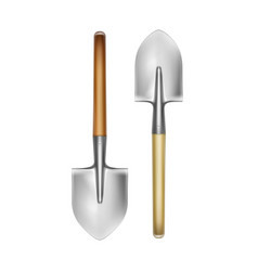 two big shovels vector image