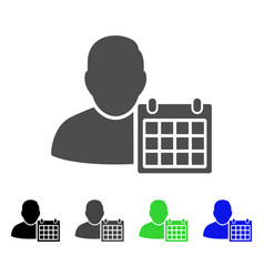 User schedule calendar flat icon vector