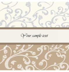 Vintage floral background with ornaments vector image vector image