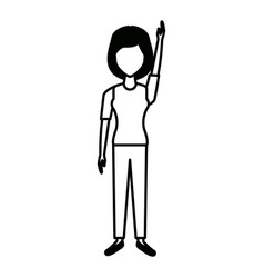 woman character people standing female image vector image vector image