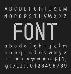 Tech font typeface and numbers vector