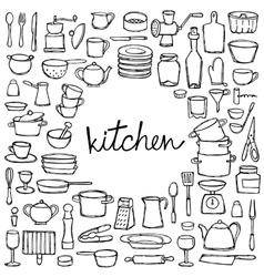 Kitchen Doodle Set vector image