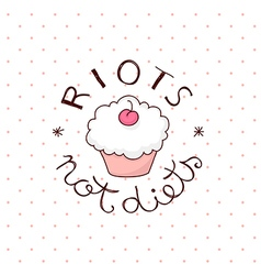 riots not diets vector image