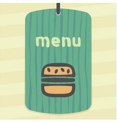 hamburger fast food icon modern infographic logo vector image