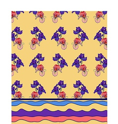 Iris pattern background vector
