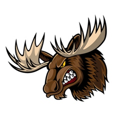 Angry moose head vector