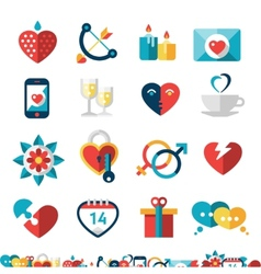 Dating icon set vector