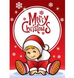 baby santa claus vector image