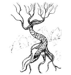 Dead Tree Sketch5 vector image