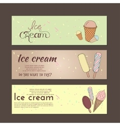 Hand drawn with ice cream vector