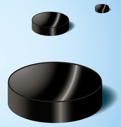 Hockey puck on ice vector