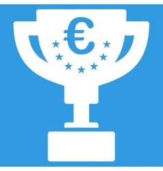 Euro award cup icon vector