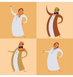 Set of muslims vector