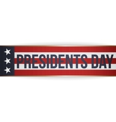 Presidents day realistic big ribbon with text vector