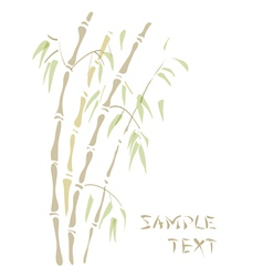 Bamboo watercolor style vector
