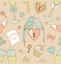 Wedding pattern vector