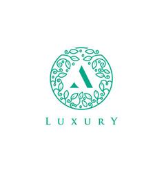 a letter logo luxurybeauty cosmetics logo vector image vector image
