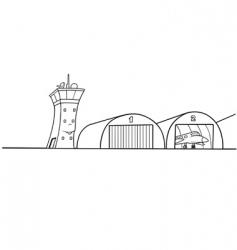 Airport hangar vector