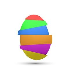 Chicken multicolored egg vector image vector image