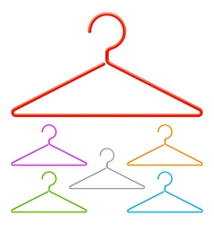 Color hangers vector