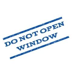Do not open window watermark stamp vector