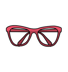 fashion glasses summer icon vector image