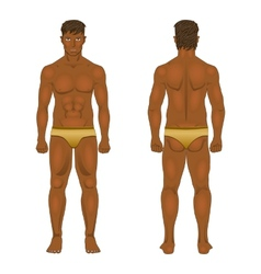 Figure of the standing man in front and behind vector image