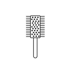 hair brush icon vector image vector image