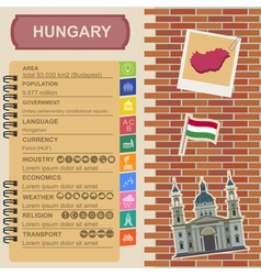 Hungary infographics statistical data sights vector image vector image