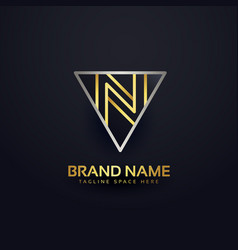 Letter n creative logo design template vector