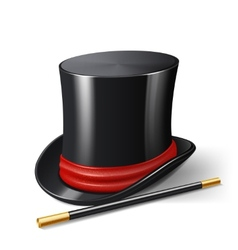 Magician hat realistic vector