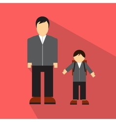 Man and children flat icon vector image