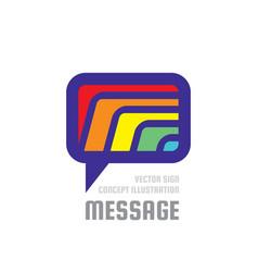 Message - creative background vector