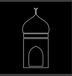 mosque white color icon vector image vector image