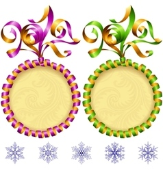 New year 2017 circle frame set vector