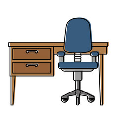 office desk and chair vector image
