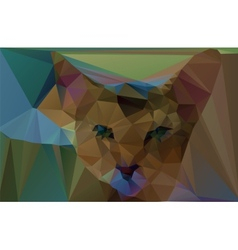 Polygonal red cat vector