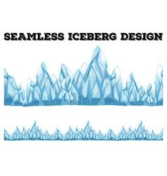 Seamless iceberg design with high peaks vector