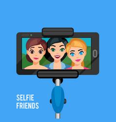 Selfie photo template vector