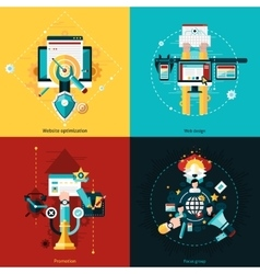 Seo development set vector